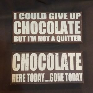 2 Chocolate theme decorative wood signs